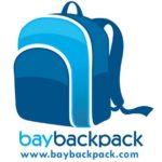 Bay-backpack logo with website.